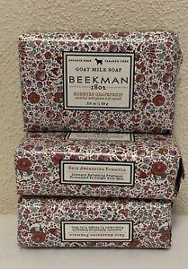 3 Beekman 1802 Goat Milk Soap Bar Honeyed Grapefruit Palm Size 3.5 Oz each