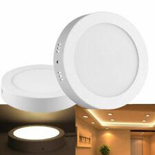 12W LED Panel Aufputzlampe Deckenlampe Wandlicht Badleuchte Rund Warmweiß Lampe