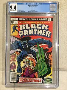 BLACK PANTHER #4 (1977) CGC 9.4 NM JACK KIRBY!