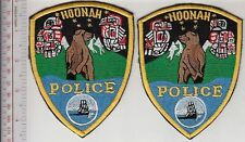 American Indian Police Tribe Alaska Hoonah Police Department Mirrored Patches