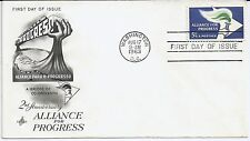 US Scott #1234, First Day Cover 8/17/63 Washington Single Alliance for Progress
