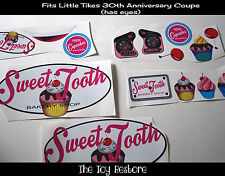 Replacement Decals fits Little Tikes 30th Cozy Coupe Cupcake Cake Bakery Truck