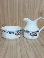 Vintage 1991 Royal Doulton Autumn's Glory LB 1086 Sugar Bowl & Milk Jug China 8