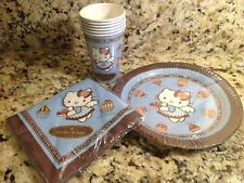2003 Sanrio Hello Kitty Chocolat Blue Angel Party Plates, Cups, Napkins, French