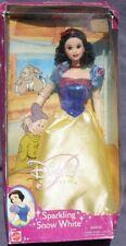 SPARKLING SNOW WHITE Blanche Neige poupée Princesse DISNEY 2001 Mattel 54203