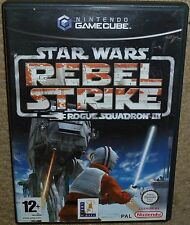 STAR WARS REBEL STRIKE Rogue Squadron 3 NINTENDO GAMECUBE Wii Boxed Instructions