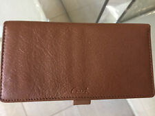 Coach  checkbook cover case holder leather wallet british tan