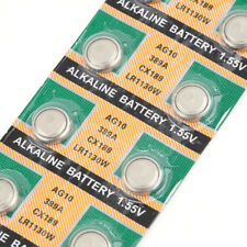 10pcs Cell Button Batteries AG10 LR1130 389A LR54 L1131 189 Alkaline Battery 1.5