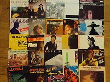 "25x 7"" SINGLES POP ET ROCK FLEETWOOD MAC,AGNETHA FAELTSKOG,BARBRA STREISAND P73"