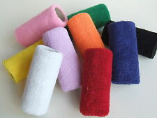 SINGLE OR PAIR OF EXTRA WIDE, 12cm GYMNASTIC COTTON SWEAT WRIST BAND HAND GUARDS