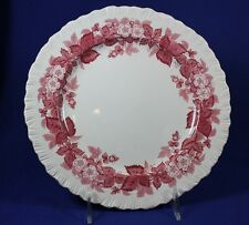 """Wedgewood - BRAMBLE Pink with Shell Edge - 9 1/8"""" Luncheon Plate"""