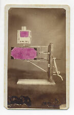 CDV PHOTO UNIDENTIFIED MECHANICAL GADGET ON PEDESTAL, STILL LIFE