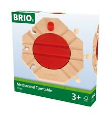 BRIO Mechanical Turntable Wooden Train Track Add-On