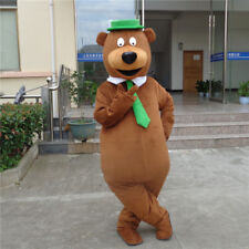Unisex Brown Bear Mascot Costume Animal Cosplay Adult Halloween Party Suit Dress
