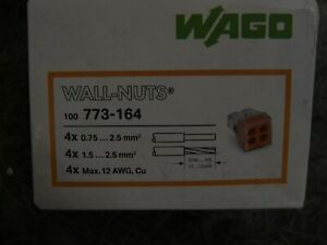 .LOT OF 400 - WAGO 773-164 - 4-PORT PUSH WIRE CONNECTORS