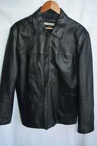 Arpelle Gold black leather jacket...size M...made in Italy...excellent