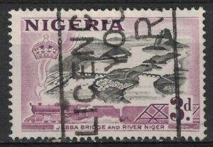 NIGERIA:1953 SC#84 Used Jebba Bridge over Niger River T183