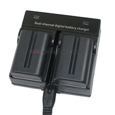 Dual AC Charger +2x Battery for Sony NP-FM500H Alpha A57 A58 A65 A77 II A99 A580