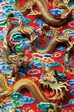 Chinese Dragons Notebook, Large, 80 Ruled + 30 Plain, Cream Paper, Chinese Dr...