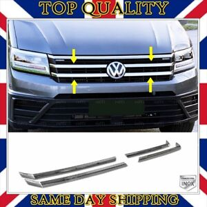 Chrome Front Grill 4 pcs Stainless Steel For VW CRAFTER 2016 onwards