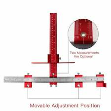 Adjustable Position Tools Cabinet Hardware Installation Jig Woodworking Tool RED
