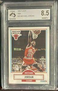 1990 Fleer Basketball Michael Jordan #26 CGA 8.5 NR MT+