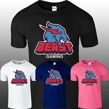 Mr Beast Lightning Cat Mens T Shirt Top Gaming Youtuber Christmas Kids Boys Tee