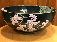 """New listing 10""""x4"""" Whieldon Ware 'Picardy' Pattern Bowl F. Winkle & Co Ltd, England c1908-25"""