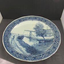 Bellissimo piatto ceramica Boch beligium ROYAL DELFTS SPHINX