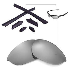 New WL Polarized Transition Lenses And Black Rubber Kit For Oakley Half Jacket