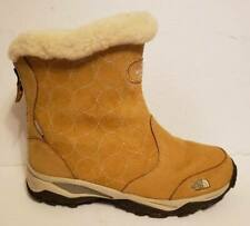 The North Face Womens 9 Primaloft Camel Brown Suede Winter Boots Insulated