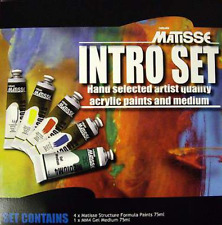 Matisse Structure Artists Acrylics Intro Set & Medium