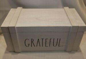 "Rae Dunn ""GRATEFUL"" storage Box"