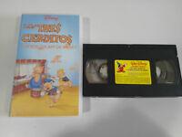 Los Three Little Pigs Y Other Oscars VHS Tape WALT DISNEY Spanish - 3T