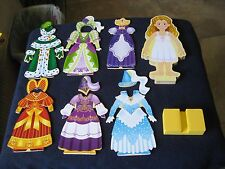 Melissa & Doug Magnetic Dress Up Princess Elise Wooden Clothing Doll Set