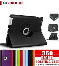 Apple 360* Leather Case Cover iPad 10.2 8th 7th Gen Air 1 2 3 4 5 6 12.9 11 Mini