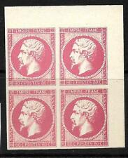 FRANCE  1853-61  80c   NAPOLEON  PROOFS  COLOUR TRIAL BLK 4  MNG    SG 70