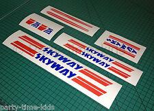 SKYWAY TA Cadre & Fourche Decal Set Custom Stickers Old school BMX