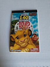 The Lion King Character Tattoo Sticker Book, Over 140+ for Kids Party Favor