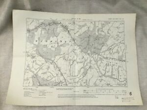 1910 Antique Map of Kent East Sussex Wadhurst Village Snape Wood Original