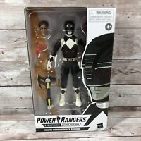 Lightning Collection Mighty Morphin Power Rangers Black Ranger Action Figure NEW