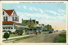 Delaware ~ REHOBOTH BEACH ~ Baltimore Avenue Looking To Ocean Postcard 16123