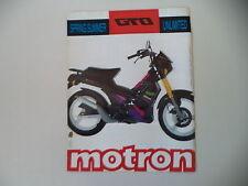 advertising Pubblicità 1991 MOTRON GTO 50