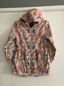 Girls - Coat Age 7-9 Years - Floral - Hooded - Multicoloured