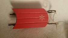 Wooden Sled Ornament Midwest Cbk New