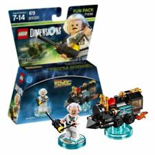 New Lego Dimensions Doc Brown & Train Fun Pack Back To The Future Official
