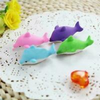 1Pcs Dolphin Shaped Rubber Eraser Lovely Cartoon Erasers SA Students,School R0G7