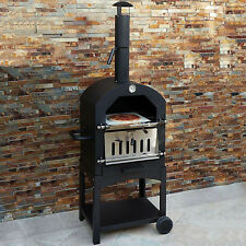 Outdoor Pizza Oven Garden Chimney Charcoal BBQ & Smoker Bread Oven