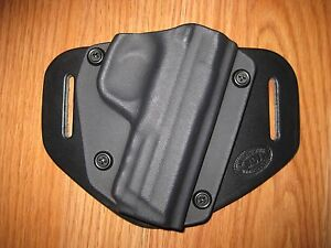 OWB Kydex/Leather Hybrid Holster with adjustable retention for Smith & Wesson