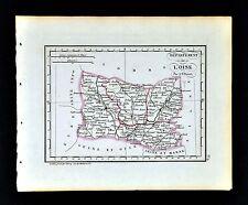 1841 Perrot France Map Departement L' Oise Beauvais Clermont Senlis Crespy Creil